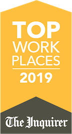2019 top workplace award presented by the philadelphia inquirer