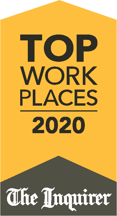 2020 top workplace award presented by the philadelphia inquirer