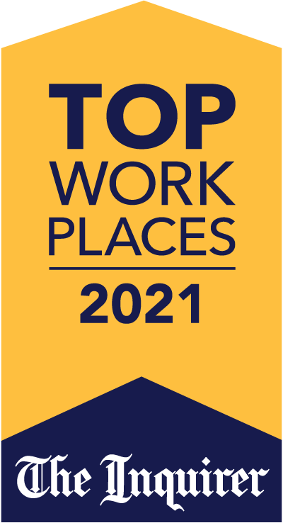 2021 top workplace award presented by the philadelphia inquirer