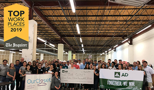 AD Wins 2019 Top Workplace Award Presented by The Philadelphia Inquirer
