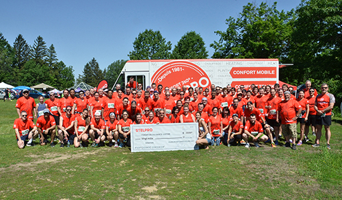 Stelpro Employees Run for the Benefit of the Sainte-Justine Chu Foundation